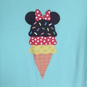 tops minnie mouse ice cream decal tshirt size m poshmark